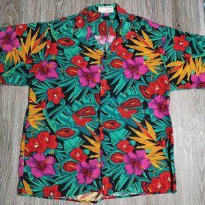 The Vintage Twin Floral Hawaiian Shirt